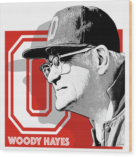 Coach Woody Hayes Wood Print