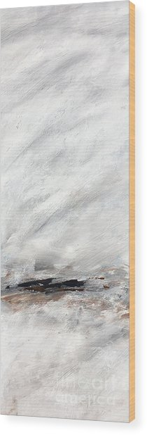 Coast #14 Ocean Landscape Original Fine Art Acrylic On Canvas Wood Print