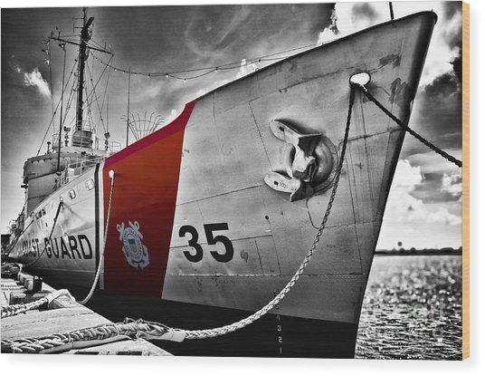 Coast Guard Wood Print by Alessandro Giorgi Art Photography