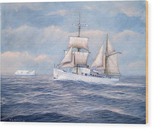 Coast Guard Cutter Northland Wood Print by William H RaVell III