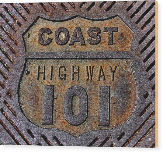 Coast Highway 101 Wood Print