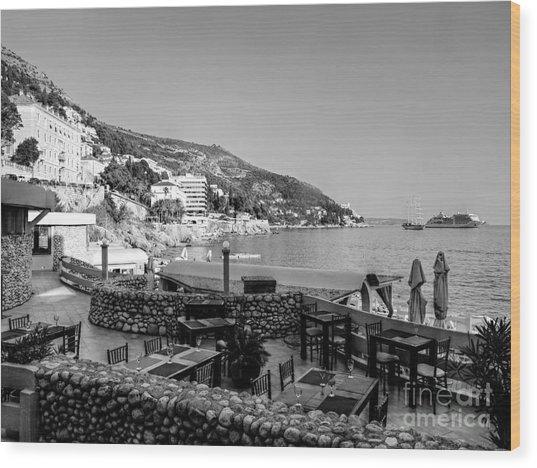 Coast Of Dubrovnik Wood Print