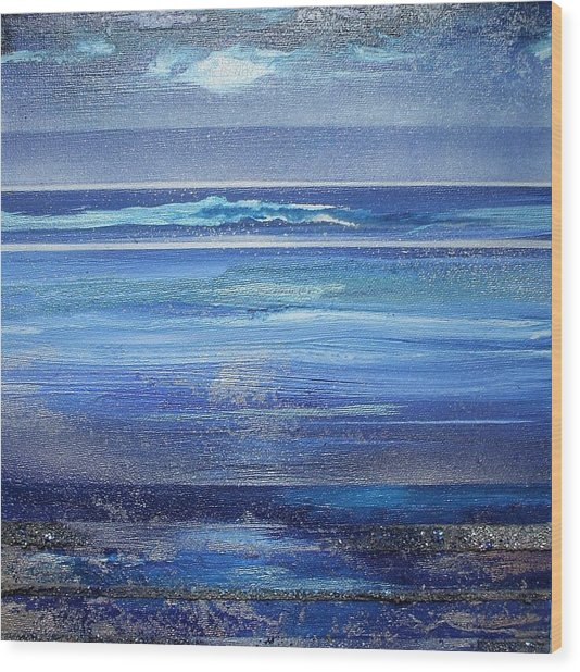 Coast Series Blue Am6 Wood Print by Mike   Bell