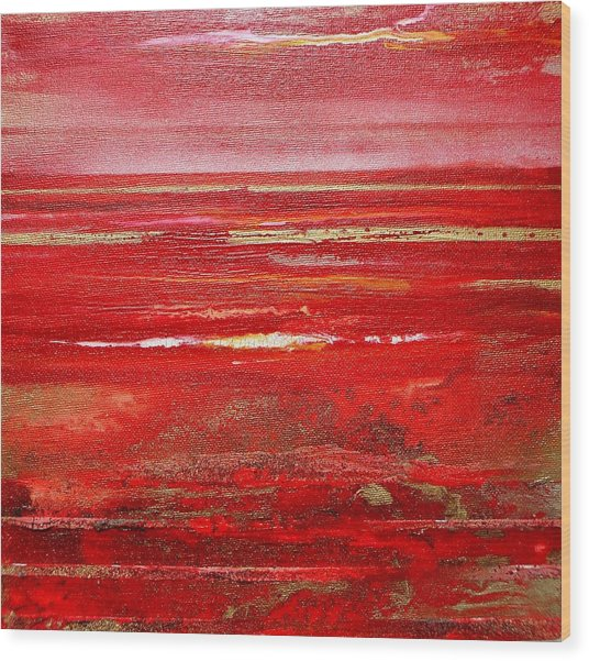 Coast Series Red Am8 Wood Print by Mike   Bell