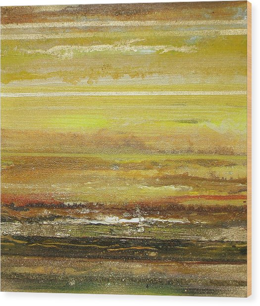 Coast Series Yellow Am9 Wood Print by Mike   Bell