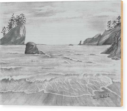 Coastal Beach Wood Print