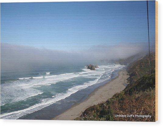 Coastal Beauty Wood Print by Lindsay Duff