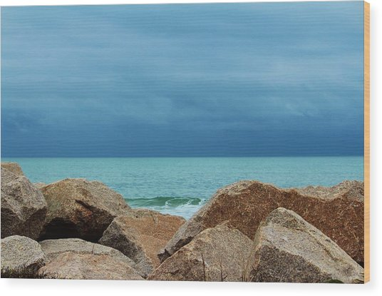 Coastal Blues Wood Print