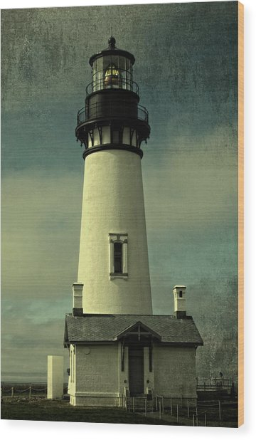 Coastal Breeze At Yaquina Head Wood Print