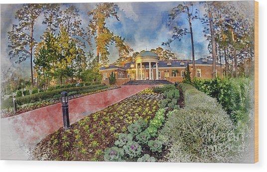 Coastal Carolina University Digital Watercolor Wood Print