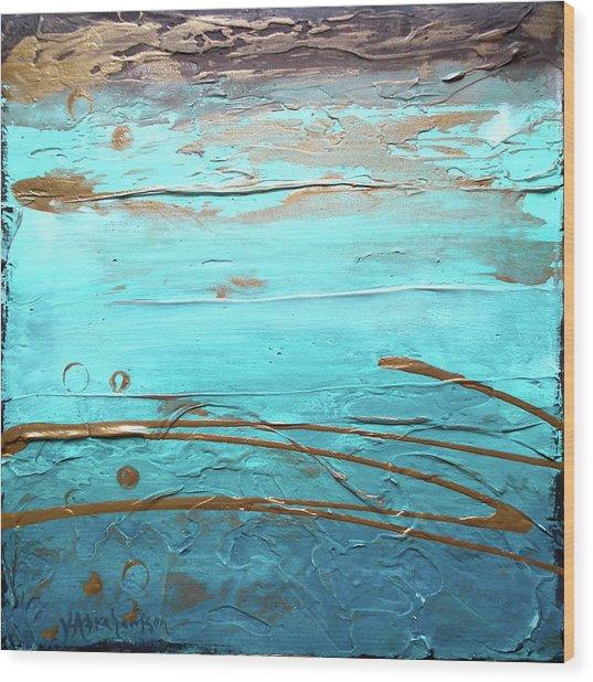 Coastal Escape I Textured Abstract Wood Print