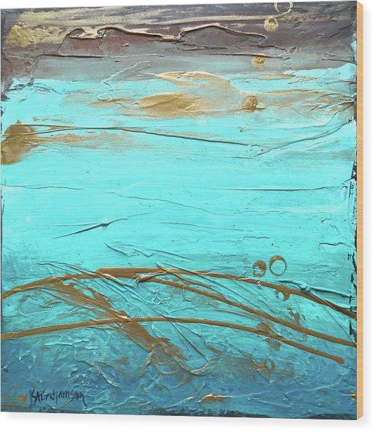 Coastal Escape II Textured Abstract Wood Print