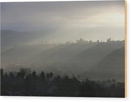 Coastal Fog  Wood Print by Robin Street-Morris