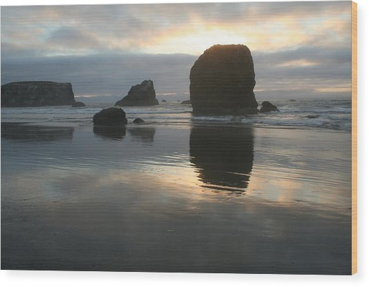 Wood Print featuring the photograph Coastal Light by Dylan Punke