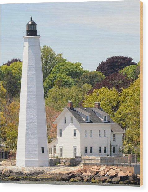 Coastal Lighthouse-c Wood Print