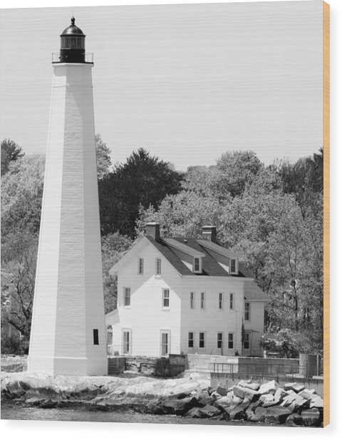 Coastal Lighthouse Wood Print
