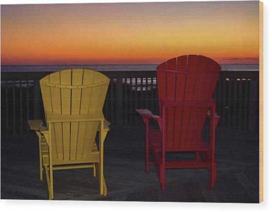 Coastal Mornings Wood Print