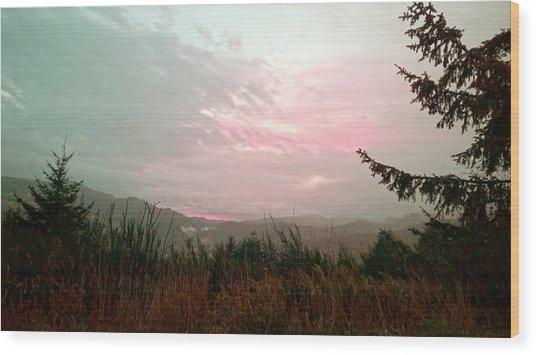 Coastal Mountain Sunrise Viii Wood Print
