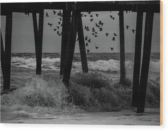 Coastal Movements Wood Print