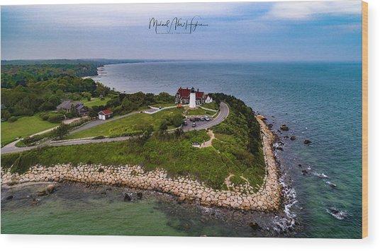 Coastal Nobska Point Lighthouse Wood Print