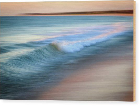 Coastal Ocean Wave Wood Print