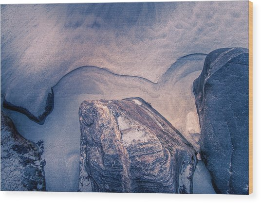 Coastal Rocks Wood Print