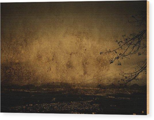 Coastal Santos Wood Print by Valmir Ribeiro