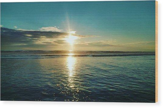 Coastal Sunset Wood Print by Frederick Messner