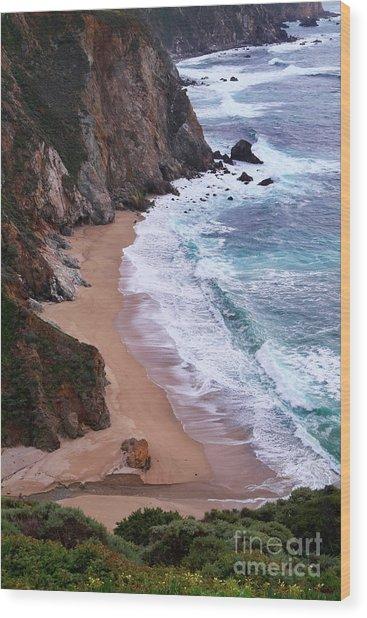Coastal View At Big Sur Wood Print