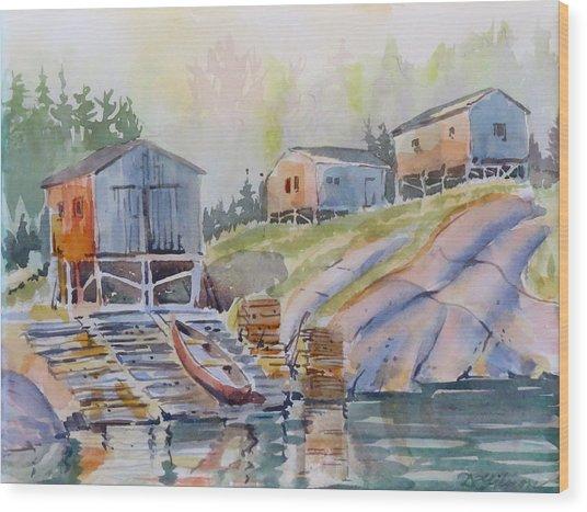 Coastal Village - Newfoundland Wood Print