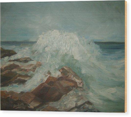 Coastal Waters Wood Print by Joseph Sandora Jr