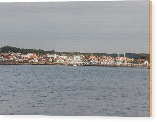 Coastline At Molle In Sweden Wood Print