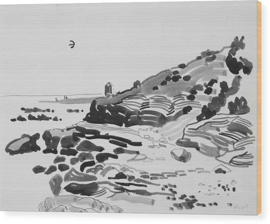 Coastline Of The Spain Wood Print by Vitali Komarov