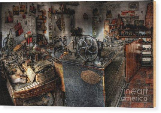 Cobbler's Shop Wood Print