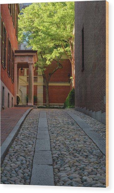 Cobblestone Drive Wood Print