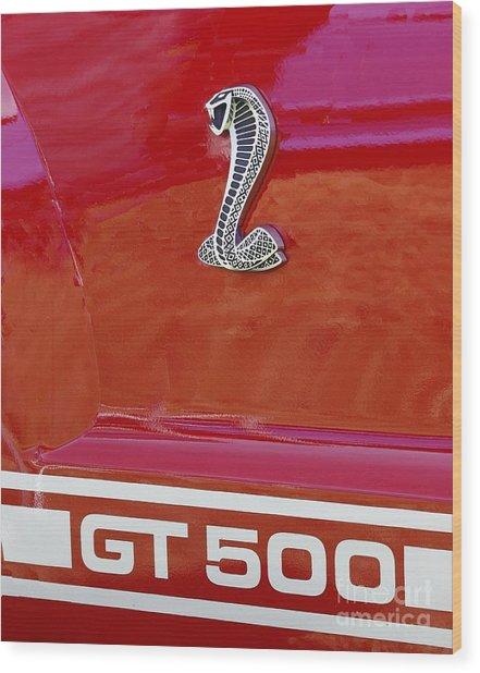Cobra Gt 500 Emblem Wood Print