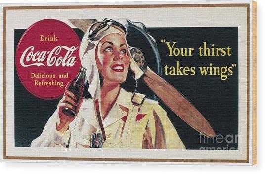 Coca-cola Ad, 1941 Wood Print by Granger