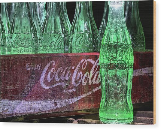 Coca-cola As Art Wood Print