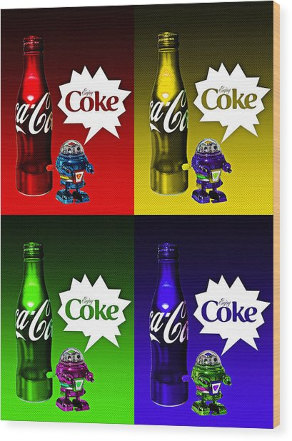 Coca-cola Forever Young 12 Wood Print