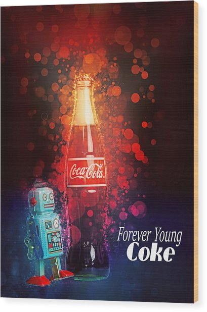 Coca-cola Forever Young 15 Wood Print