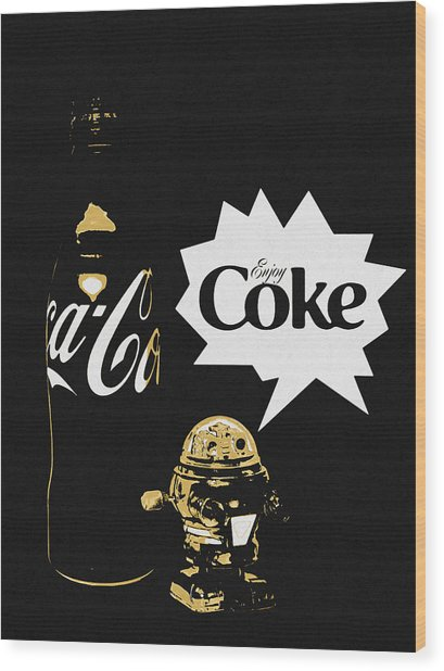 Wood Print featuring the photograph Coca-cola Forever Young 7 by James Sage