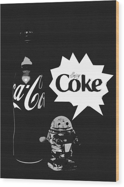 Wood Print featuring the photograph Coca-cola Forever Young 9 by James Sage