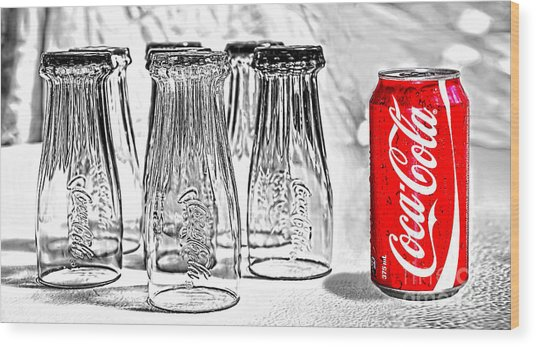 Coca-cola Ready To Drink By Kaye Menner Wood Print