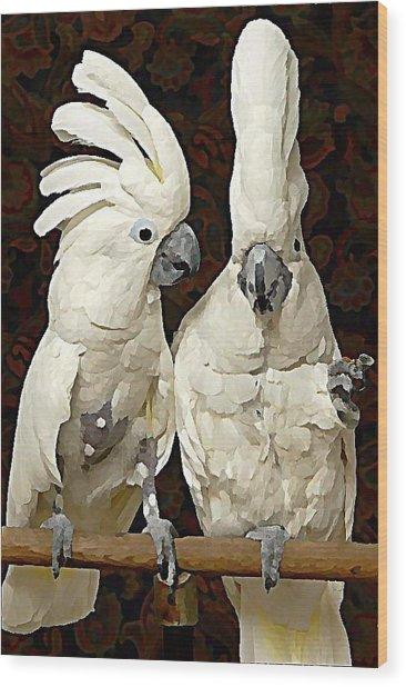 Cockatoo Conversation Wood Print