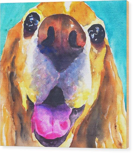 Cocker Spaniel Dog Smile Wood Print