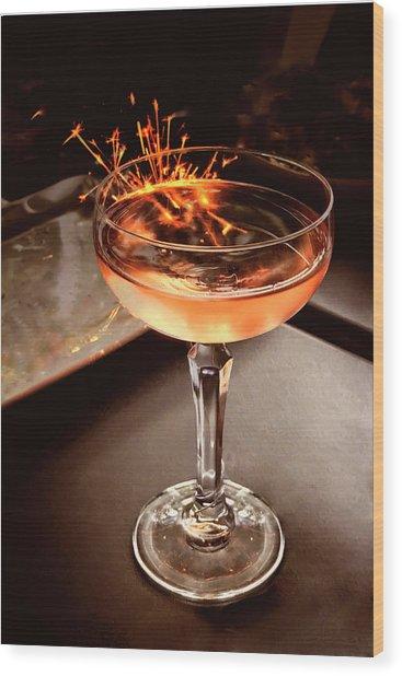 Cocktail Dazzle Wood Print