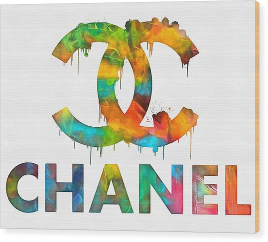 Coco Chanel Paint Splatter Color Wood Print