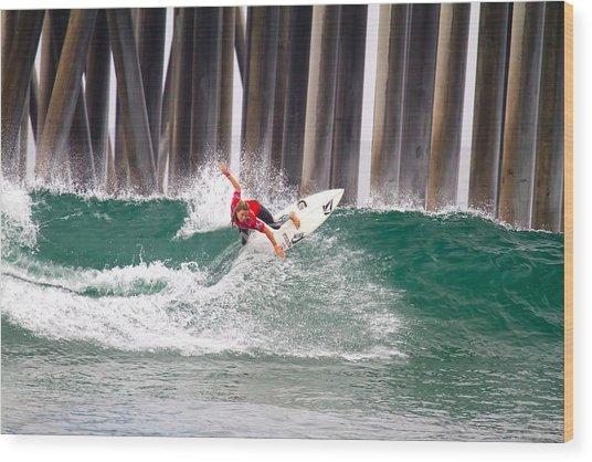 Coco Ho Surfer Girl Wood Print