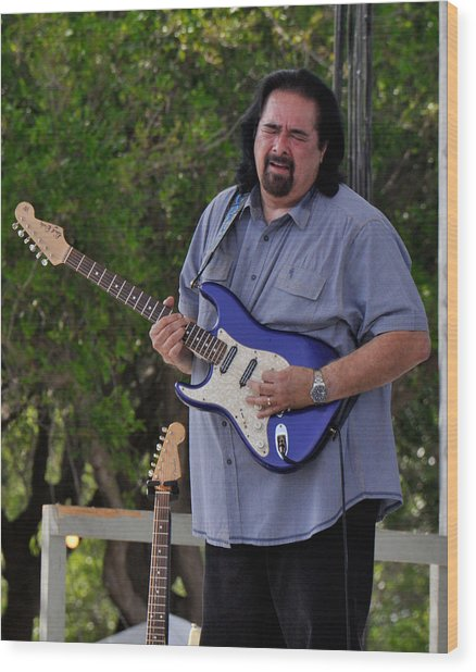 Coco Montoya And His Ocean Blue Fender American Standard Stratoc Wood Print