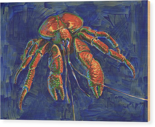 Coconut Crab Wood Print